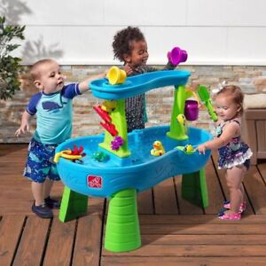 Inflatable water slide and water table