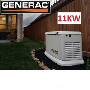 NEW GENERAC  11KW STANDBY GENERATOR 7031 198633277 11000W (LP)/10000W (NG) AIR COOLED