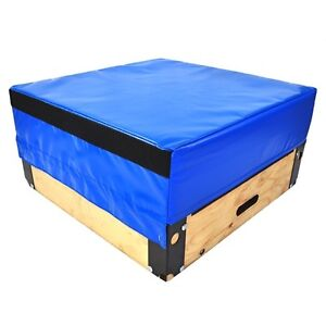 Northern Lights Wood Plyo Box with Foam Top PBWOODTOP12F