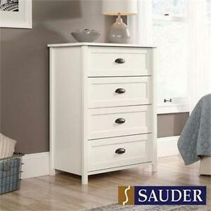 NEW* SAUDER COUNTY LINE DRESSER WHITE 4 DRAWER CHEST FURNITURE DECOR DRAWERS BEDROOM CHEST CONTEMPORARY HOME 92964400