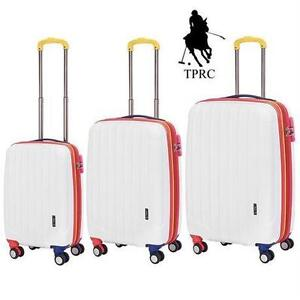 NEW 3PC TPRC SPINNER LUGGAGE TRAVELERS POLO RACQUET CLUB GETAWAY 3PC SPINNER LUGGAGE SET SUITCASE TRAVEL GEAR BAG