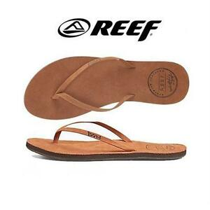 NEW REEF LEATHER SANDALS WOMEN'S 9 COCOA - SHOES