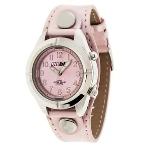 NEW: Globlu Ladies Pink Patent Analog Watch