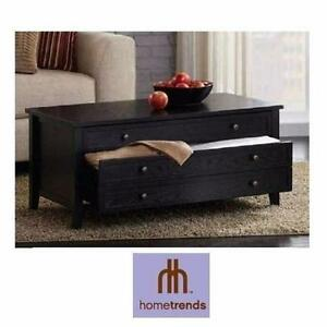 NEW HOMETRENDS COFFEE TABLE   COFFEE TABLE WITH TWO DRAWERS HOME LIVING ROOM STORAGE FURNITURE 96961205