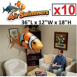 NEW 10 AIR SWIMMERS FLYING BALOON 481-677 212416962 W/ REMOTE CONTROL CLOWNFISH 5x2PK