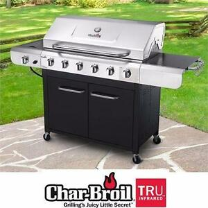 NEW* CHAR BROIL 6 BURNER BBQ GRILL SEARING STATION SIDE BURNER 68000 BTU TOAL CHAR-BROIL BARBECUE HOME OUTDOOR 97479103
