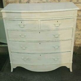 Shabby chic chest of drawers ( free local delivery)