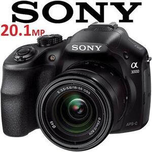 NEW OB SONY ALPHA 20.1MP CAMERA a3000 Digital Camera with 18-55mm Lens - ELECTRONICS - NEW OPEN BOX 105924884