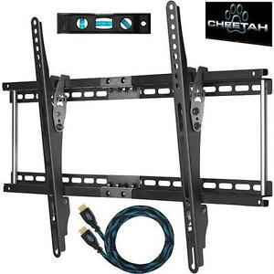 """NEW CHEETAH TILT HDTV WALL MOUNT 32""""-65"""" TELEVISIONS - W/ FREE HDMI CABLE HOME AUDIO VIDEO ACCESSORIES 59131593"""