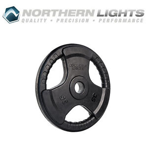 Northern Lights Olympic Rubber Coated Weight Plate, 35lbs WPOR35