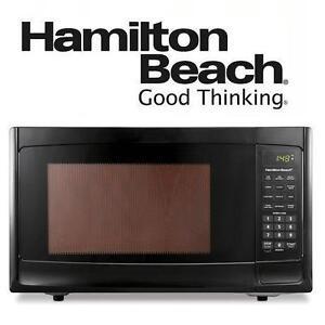NEW HAMILTON BEACH MICROWAVE 1.1 CU FT - BLACK MICROWAVE - APPLIANCES 102936807