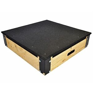 NORTHERN LIGHTS Wood Plyo Box with Rubber Top PBWOODTOP6RB