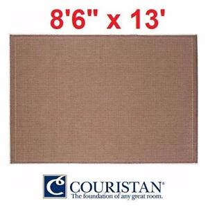 "NEW*COURISTAN 8'6"" x 13' AREA RUG COCOA NATURAL - SADDLE STITCH - FLOORING DECOR RUGS CARPET CARPETS PAD PADS  83325865"