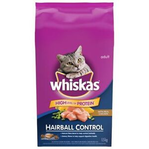 Whiskas Dry  Cat Food - Hairball & Weight Control