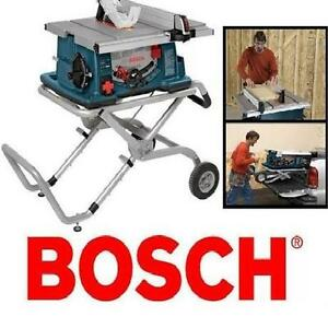 "NEW BOSCH 10"" JOBSITE TABLE SAW PORTABLE STAND - STANDS SAWS POWER HAND TOOLS CONSTRUCTION CUTTING PLYWOOD 104333861"
