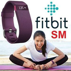 REFURB FITBIT CHARGE HR TRACKER SM - 106678975 - FIT PLUM- SMALL- ACTIVITY TRACKER - FITNESS TRACKER - OUTDOORS - WRI...