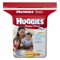 HUGGIES Simply Clean Baby Wipes, Refill 240 units