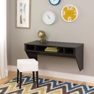 Prepac Designer Floating Desk - BLACK