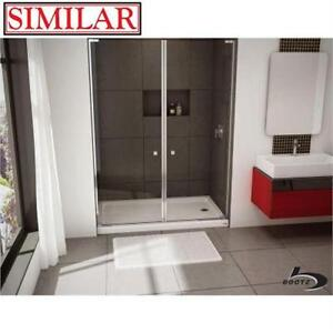 """NEW BI SHOWERCAST 60"""" SHOWER BASE BOOTZ INDUSTRIES - RIGHT HAND - BISCUIT COLOUR - 60"""" x 30"""" - SINGLE THRESHOLD"""