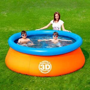 Piscine ronde gonflable Aventure Interactive Splash & Play en 3D