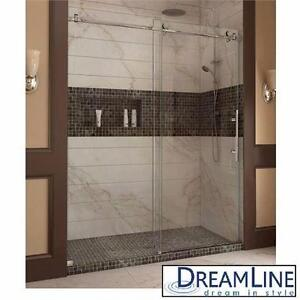 "NEW DREAMLINE SLIDING SHOWER DOORS ENIGMA-X 44  48"" x 76"" FRAMELESS SLIDING SHOWER DOOR SYSTEM - BATHROOM BATH  82636076"