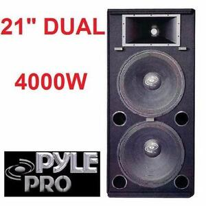 """NEW* PYLEPRO 21"""" DUAL SPEAKER TOWER TWO 21"""" SPEAKERS 4000W PEAK DJ EQUIPMENT SPEAKERS MUSIC SOUND SYSTEMS SUBS  99673354"""