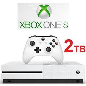 NEW XBOX ONE S 2TB CONSOLE MICROSOFT VIDEO GAMES 4K ULTRA HD ELECTRONICS 107780024