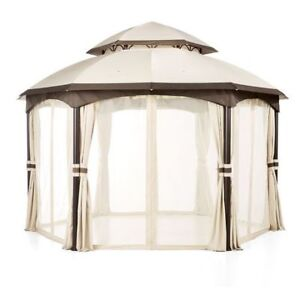 hometrends Arya Hexagonal Dome Gazebo12 ft x 12 ft gazebo