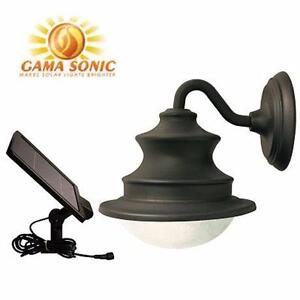 NEW GAMA SONIC SOLAR LED FIXTURE   BARN SOLAR LED LIGHT BROWN FIXTURE HOME OUTDOOR LIGHTING 98752328