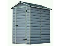 Palram skylight Garden Shed 4x6 FT Grey Brand New!!!!! RRP £425