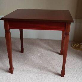 Polished Hardwood Occasional Table