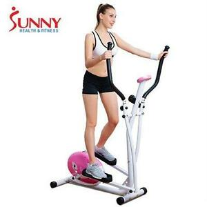 NEW* SUNNY PINK MAGNETIC ELLIPTICAL TRAINER - HEALTH - FITNESS - EXERCISE EQUIPMENT Aerobic Training Machines 76105714