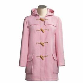 John Partridge Designer Pink Ladies Duffle Coat