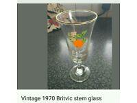 VINTAGE BRITVIC STEM GLASS