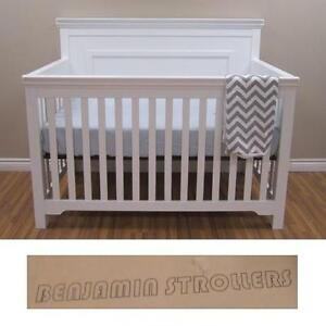 NEW* BENJAMIN STROLLERS TAYLOR CRIB WHITE - BABY CRIBS BABY FURNITURE BED BEDDING BEDROOM DECOR CONVERTIBLE 110115572