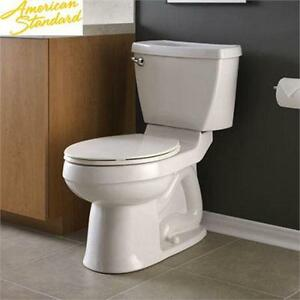 NEW AMERICAN STANDARD TOILET CHAMPION 4 RIGHT HEIGHT 2 PIECE 1.6 GPF ELONGATED TOILET IN WHITE BATHROOM  80559840