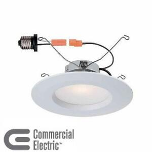 NEW COMMERCIAL ELECTRIC LED TRIM CEILING LIGHT 5 IN. AND 6 IN. WHITE RECESSED LED TRIM 4000K, 92 CRI LIGHTING  71415159