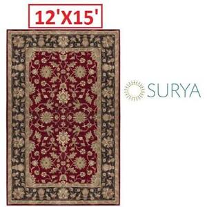 OB SURYA CROWNE 12'X15' AREA RUG CRN6013-1215 193311232 100% HAND TUFTED WOOL OPEN BOX