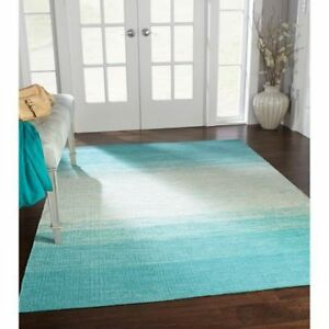 Turquoise Ombre Area Rug 4ft 11in x 6ft 9in