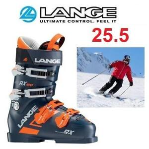 NEW LANGE SKI BOOTS 25.5 LBG2050 225776546 RX 120 DARK BLUE ORANGE SKI BOOT GEAR SHOES WINTER COLD WEATHER SPORTS
