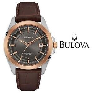 NEW* MEN'S BULOVA WATCH 98B267 215676633 PRECISIONIST  STRAP JEWELLERY JEWELRY LEATHER