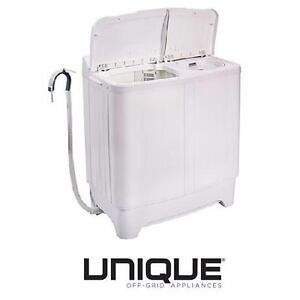 NEW UNIQUE OFF GRID PORTABLE WASHER 2.3 CU. FT. - 24V DC - SEMI AUTOMATIC AC/DC WASHERS WASHING MACHINE LAUNDRY 99517736