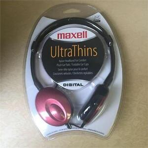 NEW, Maxell UltraThins Digital Headphones 190246- RED