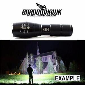 NEW SHADOWHAWK TACTICAL FLASHLIGHT X800 LED FLASHLIGHT CAMPING HIKING OUTDOORS SAFETY EQUIPMENT MILITARY GRADE  83164027