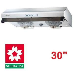 "NEW* SAKURA 30"" SS RANGE HOOD STAINLESS STEEL 3 SPEED CONTROLS KITCHEN HOODS OVER STOVE APPLIANCES RANGES 104807818"