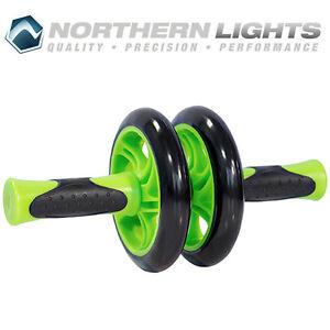 Northern Lights Double Ab Wheel, 14cm - Green ABWHEELD14G