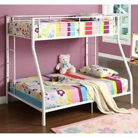 Bunk bed twin over double-white