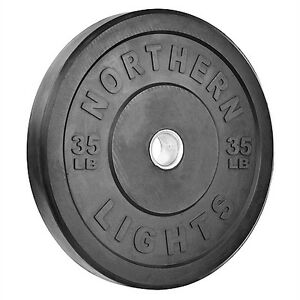 Northern Lights 35lb Olympic Bumper Plates WPOBNL1YG35B