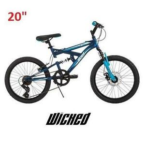 "NEW* WICKED FUGITIVE 20"" BOYS BIKE BOYS BIKE 20 INCH BICYCLE - BLUE 104619195"