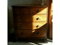 Beautiful antique chest of drawers ( free local delivery)